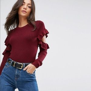 Cold Shoulder Long Sleeve
